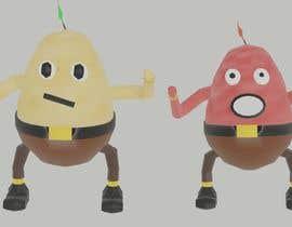 Nro 16 kilpailuun Two 2D potatoes with faces for use in a mobile UNITY game. Export through BLENDER. käyttäjältä IMathDevI