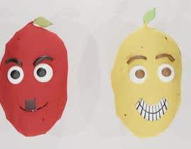 Nro 13 kilpailuun Two 2D potatoes with faces for use in a mobile UNITY game. Export through BLENDER. käyttäjältä MedhatMontaser