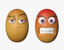 Nro 3 kilpailuun Two 2D potatoes with faces for use in a mobile UNITY game. Export through BLENDER. käyttäjältä rahmad9413