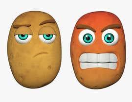 Nro 6 kilpailuun Two 2D potatoes with faces for use in a mobile UNITY game. Export through BLENDER. käyttäjältä rahmad9413