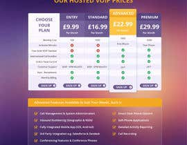 #3 for Design an pricing table & infographic showing differences between 4 VoIP Phone pricing packages and available features. by Dezign365web