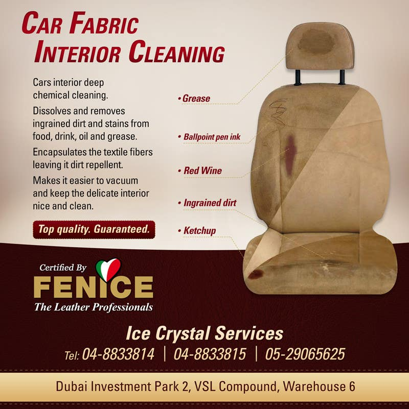 Bài tham dự cuộc thi #15 cho Design a Flyer for Car Interior Leather Restoration and Fabric Cleaning