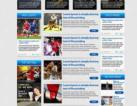 nº 15 pour Design a sportsbetting website par himel302