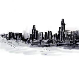 #16 untuk Design a hand drawn abstract skyline on white background oleh Alaber