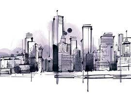 #11 for Design a hand drawn abstract skyline on white background af Dezign365web