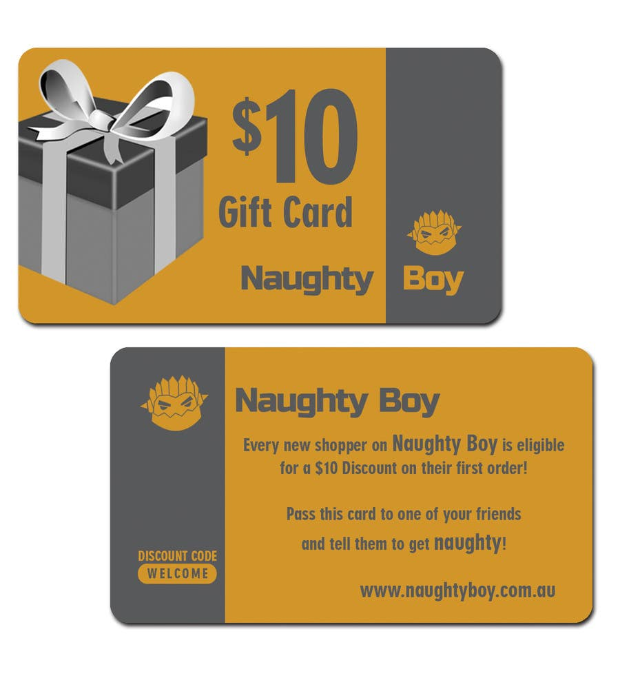 Bài tham dự cuộc thi #14 cho Design a $10 Gift Card for an Adult Store