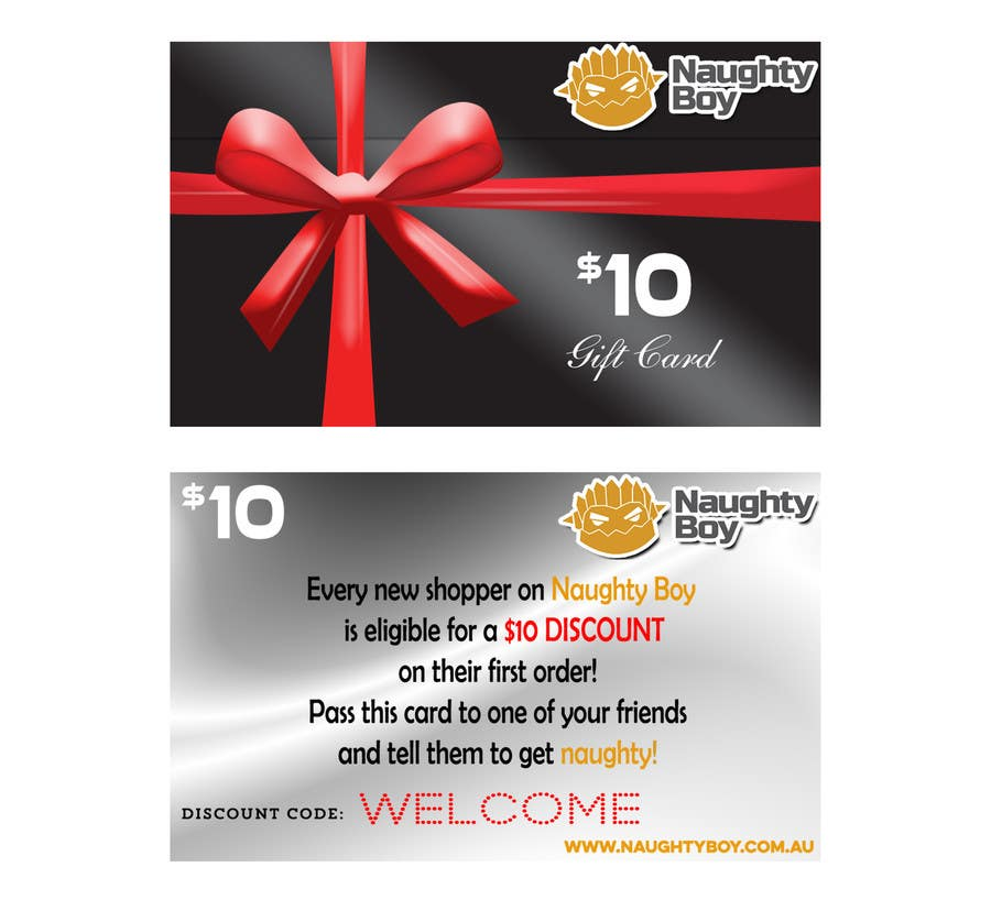 Konkurrenceindlæg #16 for Design a $10 Gift Card for an Adult Store