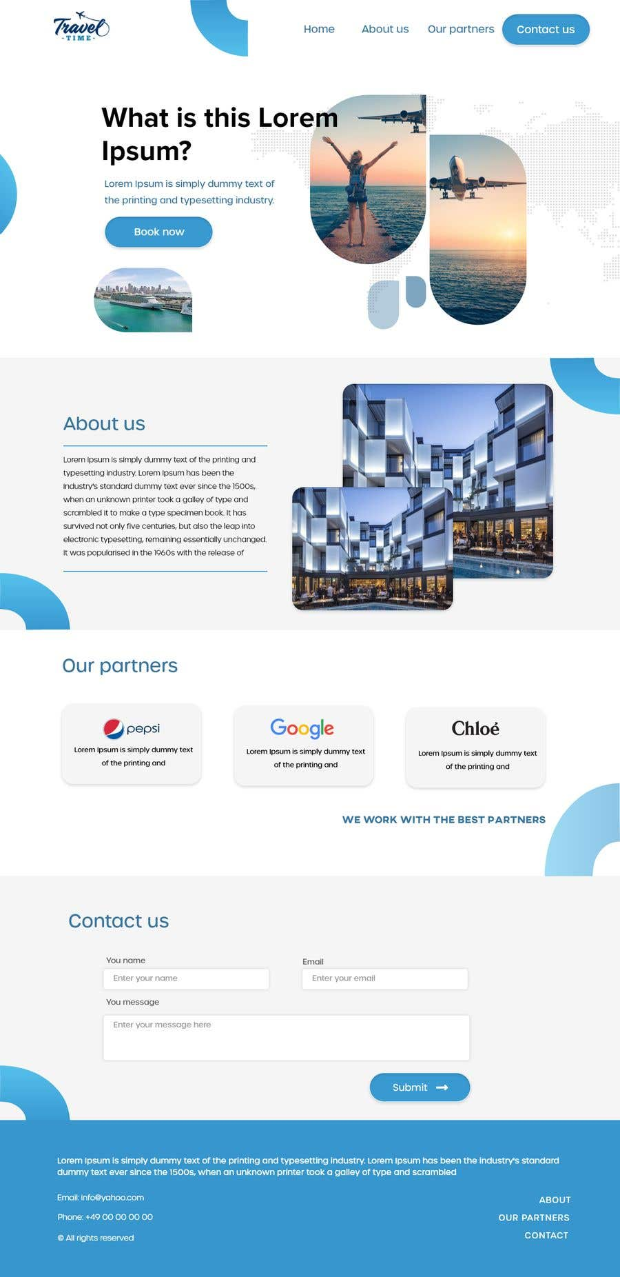 Proposition n°                                        46                                      du concours                                         Website Design for a company page