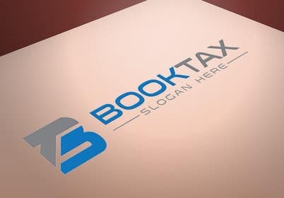 #99 untuk Design a Logo for booktax.com instead of the ball/circle oleh silverhand00099
