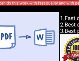 Nro 66 kilpailuun Retype, PDF into Word käyttäjältä MANUindia1234