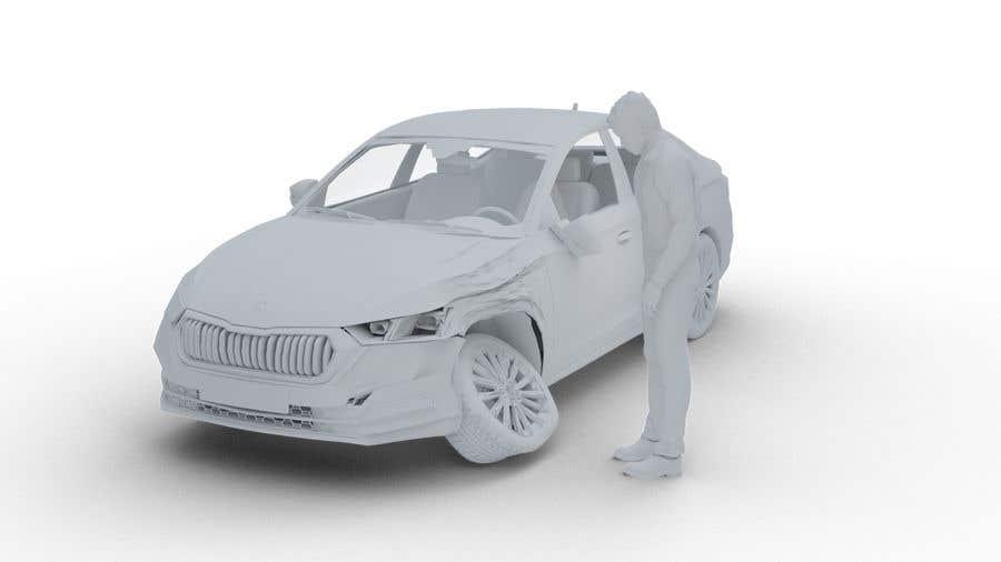 Proposition n°                                        10                                      du concours                                         3d white auto body damage