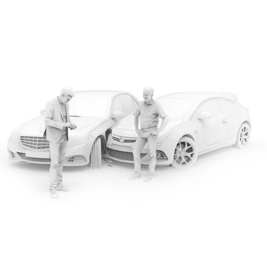 Proposition n°                                        63                                      du concours                                         3d white auto body damage