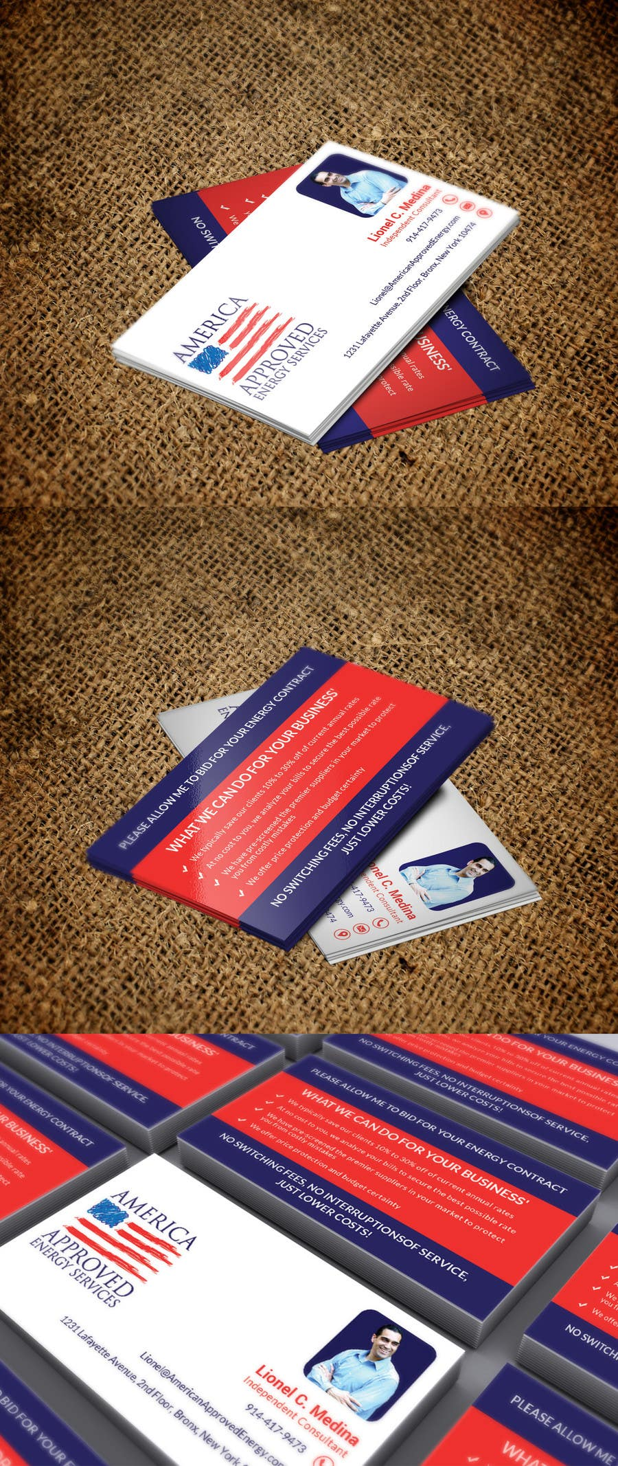 Kilpailutyö #33 kilpailussa Design some Business Cards for America Approved Commercial Energy