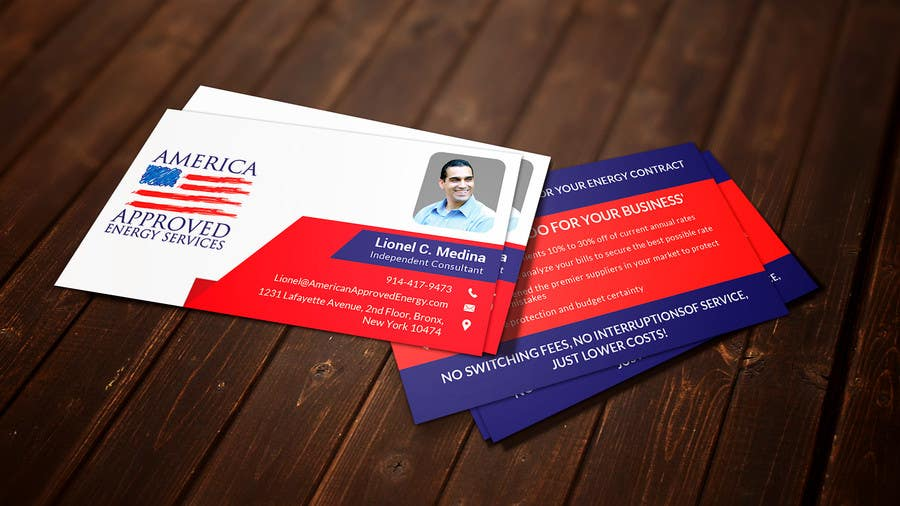 Kilpailutyö #39 kilpailussa Design some Business Cards for America Approved Commercial Energy