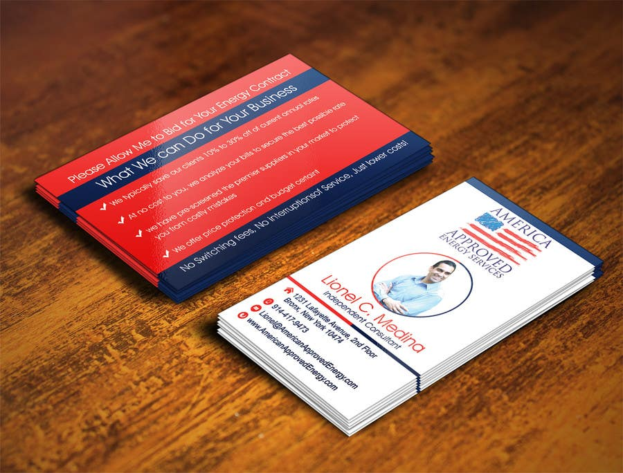 Kilpailutyö #31 kilpailussa Design some Business Cards for America Approved Commercial Energy