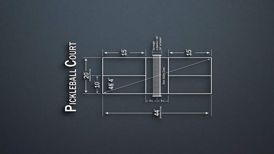 Kilpailutyö #                                        9                                      kilpailussa                                         Pickleball court indoor environment mock-up