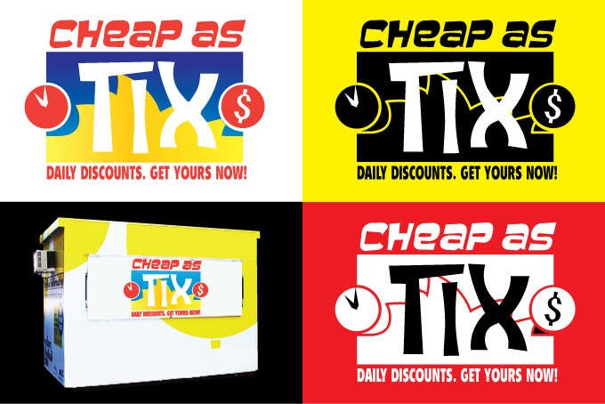 #100 for Logo Design for Cheap As TIX by am3l1a