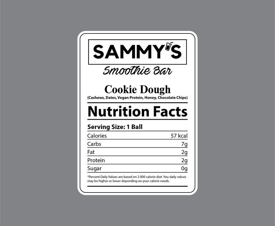 Penyertaan Peraduan #                                        49                                      untuk                                         Create a nutrition label