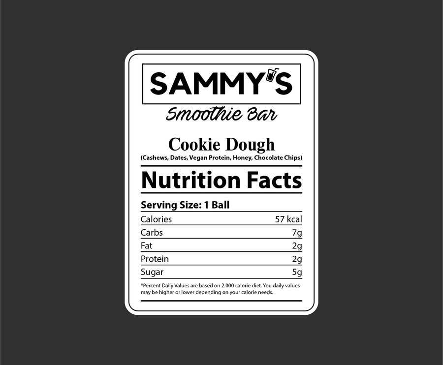 Penyertaan Peraduan #                                        57                                      untuk                                         Create a nutrition label