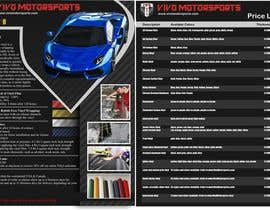 #27 untuk Design a 2 sided Brochure / price sheet 8.5x11 for Vivo Motorsports oleh AdiSeno