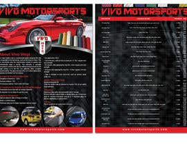 #25 untuk Design a 2 sided Brochure / price sheet 8.5x11 for Vivo Motorsports oleh teAmGrafic