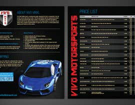 #18 untuk Design a 2 sided Brochure / price sheet 8.5x11 for Vivo Motorsports oleh cibin