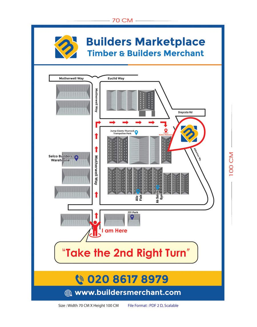 Konkurrenceindlæg #                                        14                                      for                                         Design a Direction Poster Map for Business