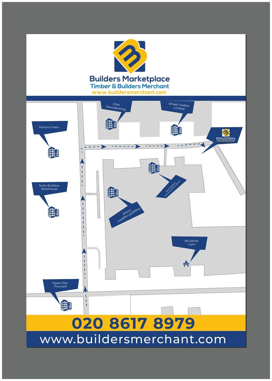 Konkurrenceindlæg #                                        5                                      for                                         Design a Direction Poster Map for Business