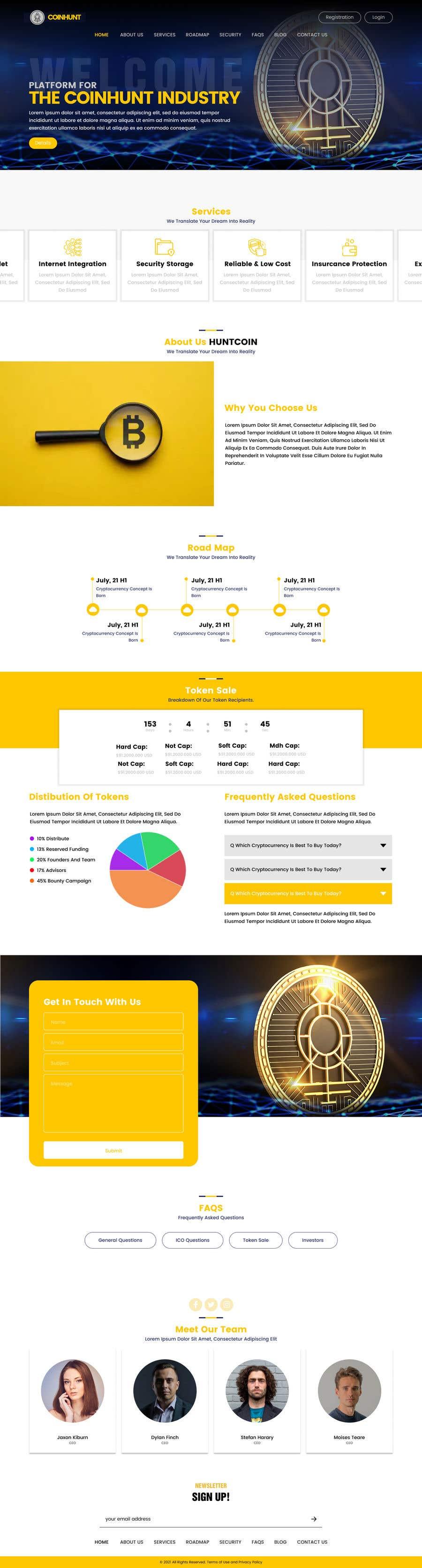 Kilpailutyö #                                        15                                      kilpailussa                                         Website for our Crypto Token (train rails)