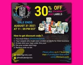 Nro 226 kilpailuun Social Media Sticker Discount Flyer -Gene käyttäjältä israfilbsj