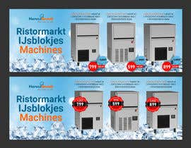#55 para Website Banner (Ristormarkt Ice Cube Machines) por Jakaria76
