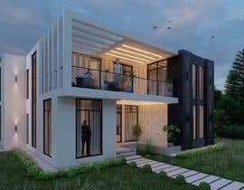 #11 for Design a minimalistic home exterior design as per the attached floor plan. af aliarchviz96