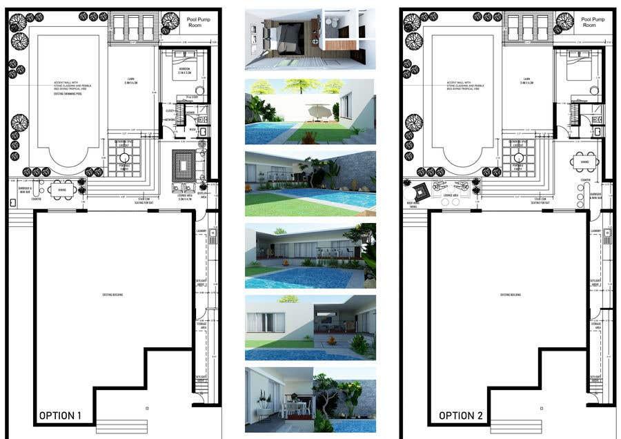 Penyertaan Peraduan #                                        14                                      untuk                                         Building a covered terrace with room for office & bathroom + laundry & storage area