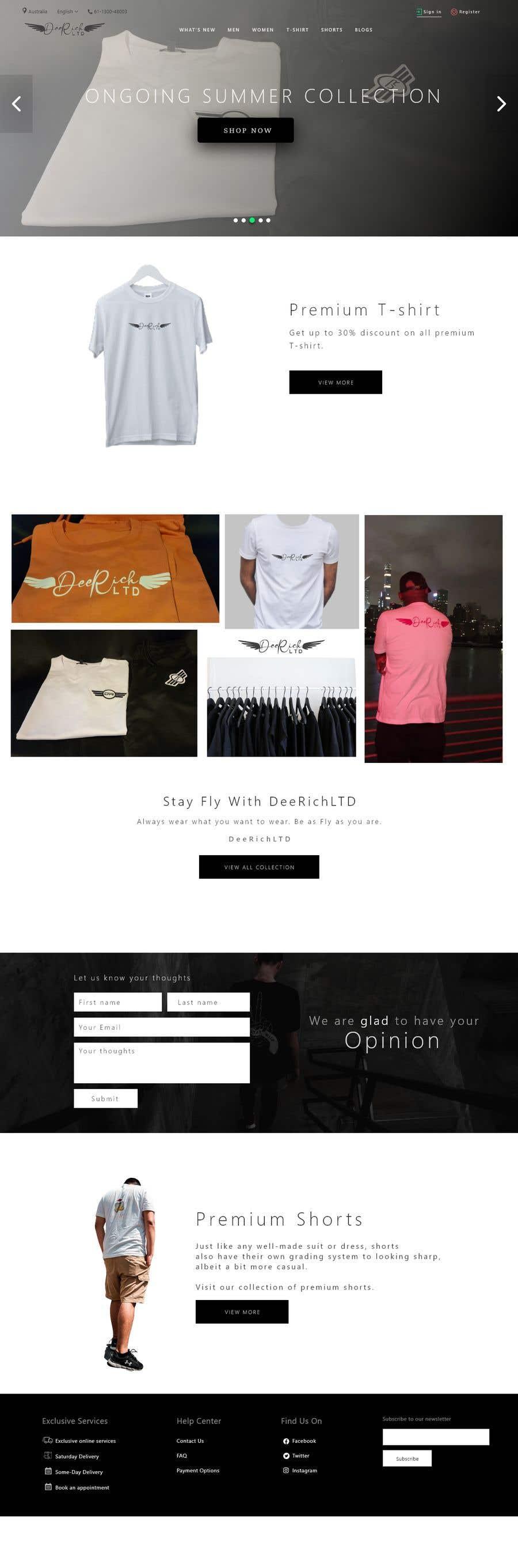 Konkurrenceindlæg #                                        54                                      for                                         build me a website for my clothing brand