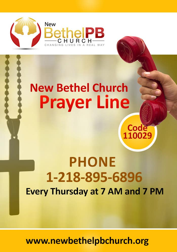 Entry #6 by LampangITPlus for Prayer Line Flyer | Freelancer