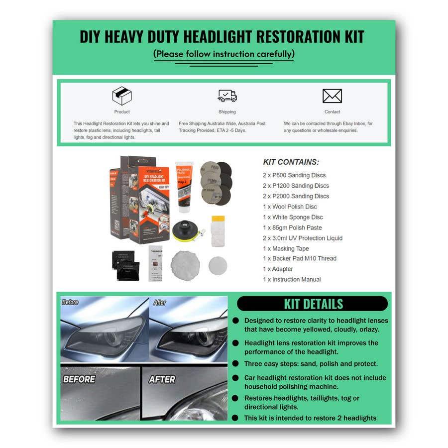 Proposition n°                                        12                                      du concours                                         Headlight Restoration kit
