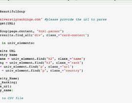 Nro 5 kilpailuun Project Title: Web scraping using Python. käyttäjältä Raghuchi