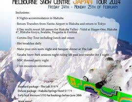 #29 para Design a Flyer for Company Snow Tour por ultra1383