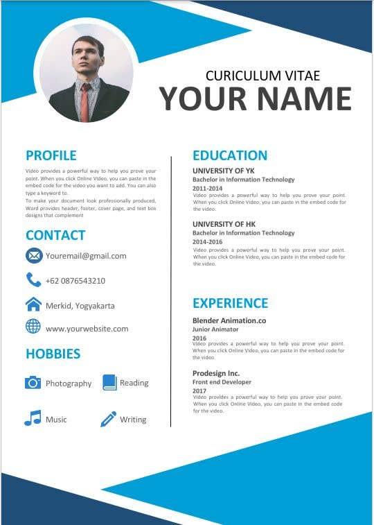 Kilpailutyö #                                        65                                      kilpailussa                                         Build me a Template to present CV's of candidates on