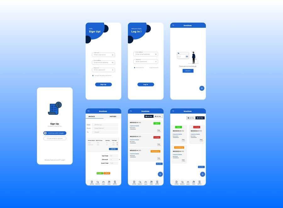 Kilpailutyö #                                        3                                      kilpailussa                                         invoice app ui