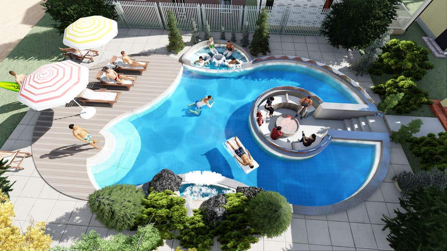 Proposition n°                                        46                                      du concours                                         Do 3d render for pool in sketchup, vray,  lumion or similar softwares.