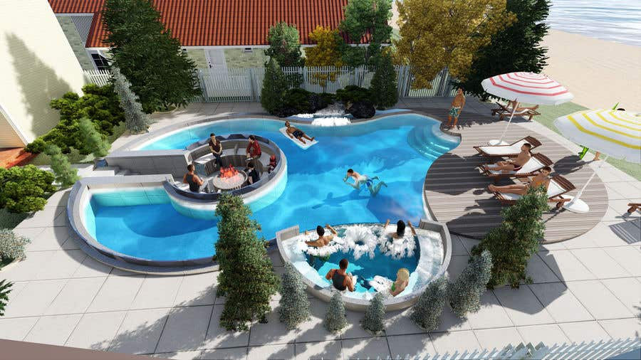 Proposition n°                                        47                                      du concours                                         Do 3d render for pool in sketchup, vray,  lumion or similar softwares.