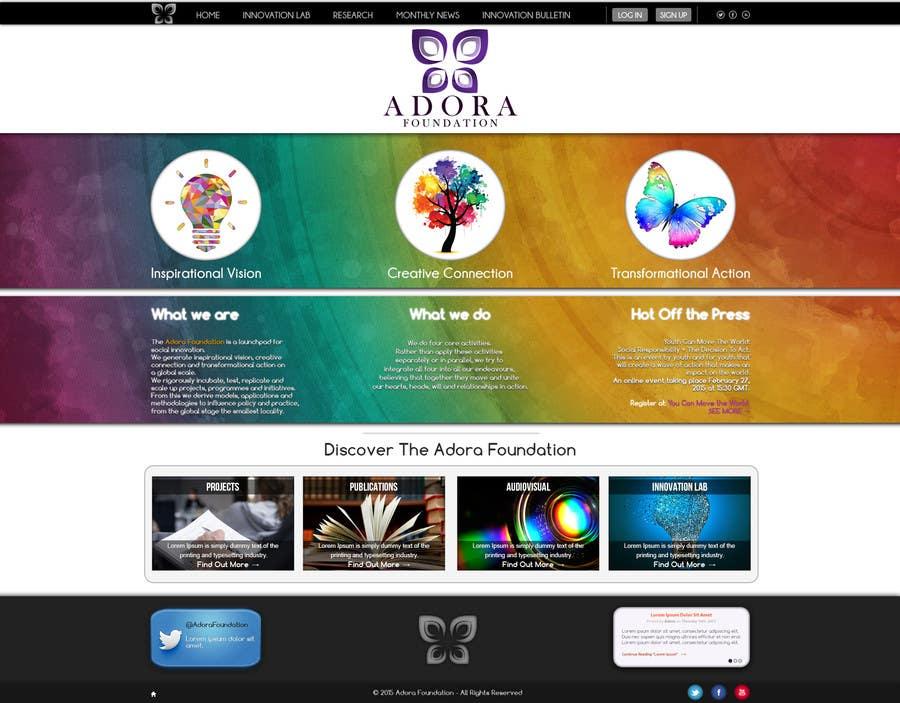 Konkurrenceindlæg #19 for Design a Website Mockup for international NGO