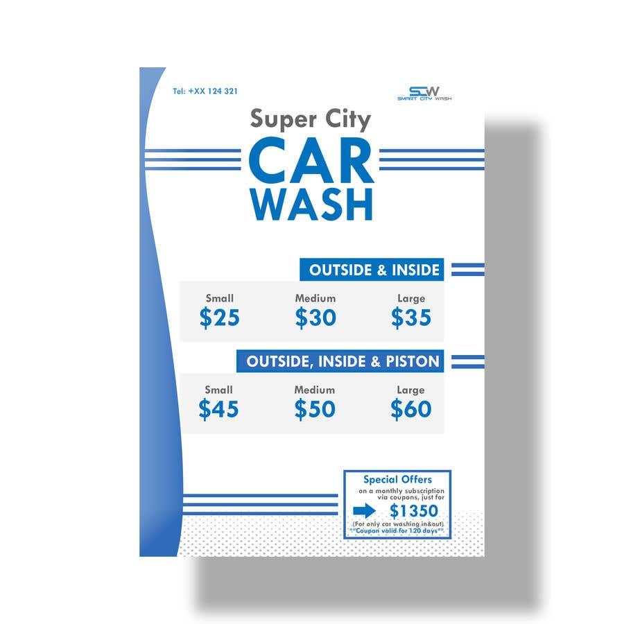 Penyertaan Peraduan #                                        21                                      untuk                                         Price Board and IG Post Design for Car Wash Shop