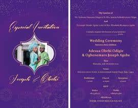 Nro 36 kilpailuun create wedding invitation card käyttäjältä dianalordesing