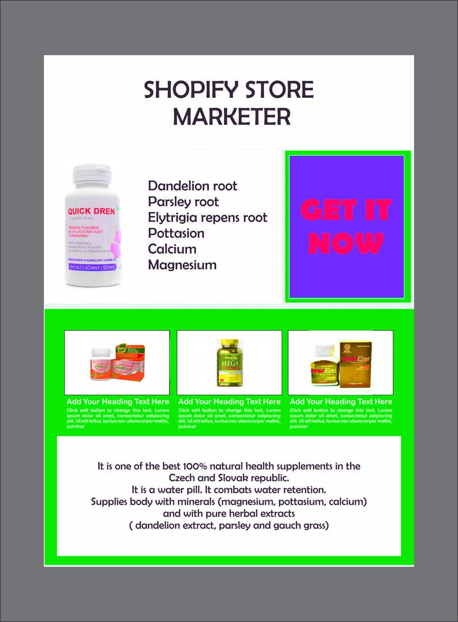 Konkurrenceindlæg #                                        13                                      for                                         Shopify Store Marketer