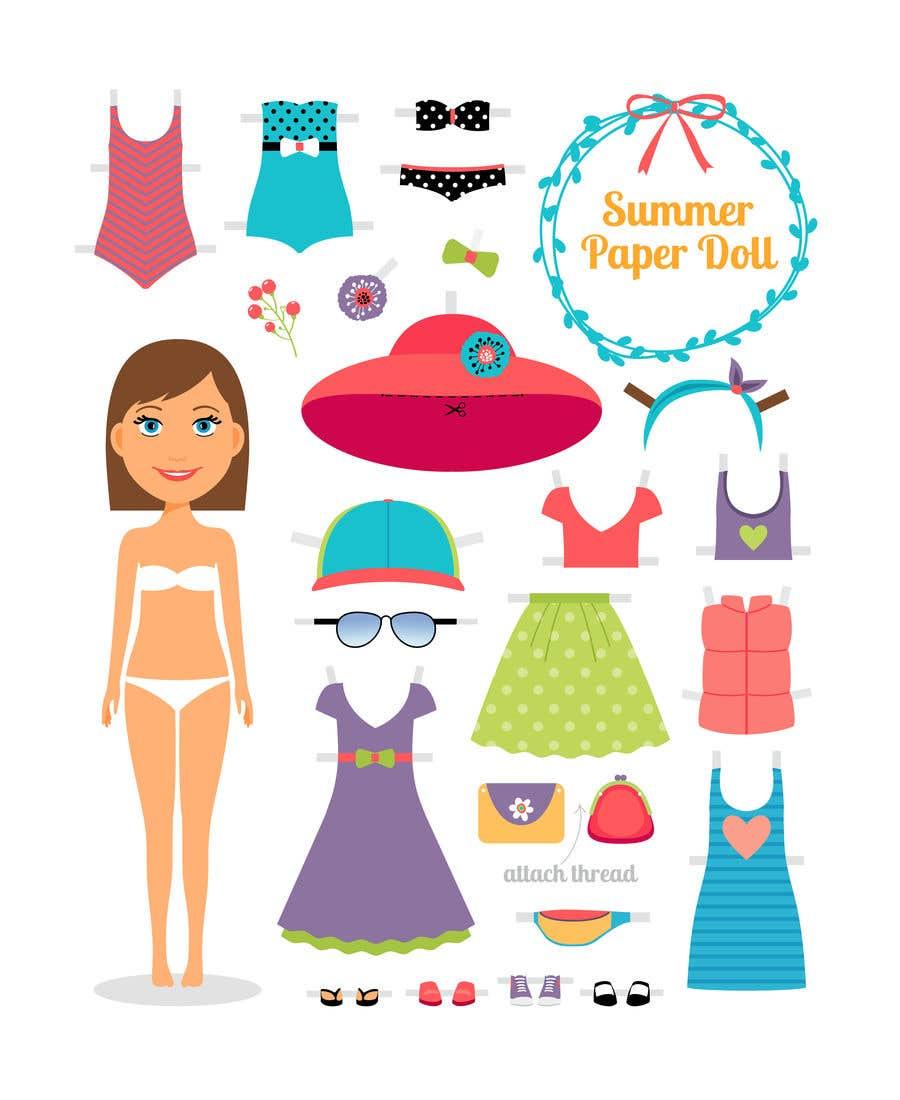 Penyertaan Peraduan #                                        55                                      untuk                                         Illustration of cute little girls with outfit