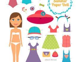 Nro 55 kilpailuun Illustration of cute little girls with outfit käyttäjältä mdtuku1997
