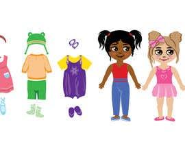 Nro 56 kilpailuun Illustration of cute little girls with outfit käyttäjältä praptishah29