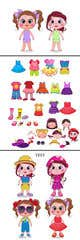 Миниатюра конкурсной заявки №                                                42                                              для                                                 Illustration of cute little girls with outfit